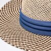 6049 Two-Tone Straw Hat - navy - one-size