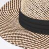 6049 Two-Tone Straw Hat - black - one-size