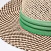 6049 Two-Tone Straw Hat - bottle - one-size