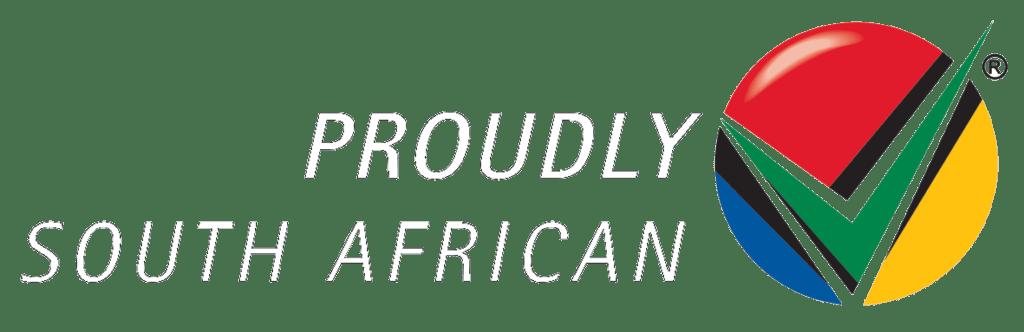 TwentyFour Store - ProudlySA Logo Corporate white